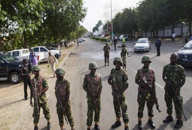 Soldiers mount roadblocks to Nnamdi Kanu's Home, ahead of his parent's Burial