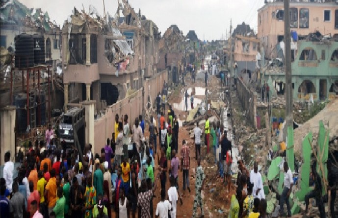 Just In: Three more corpses recovered from Abule-Ado's explosion