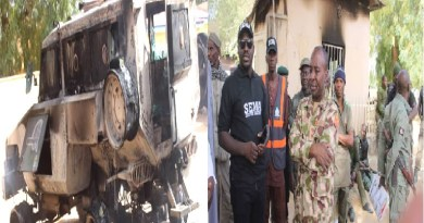 Boko Haram: Dapchi attack leaves 8 policemen dead, Armoured vehicle burnt (Photos)