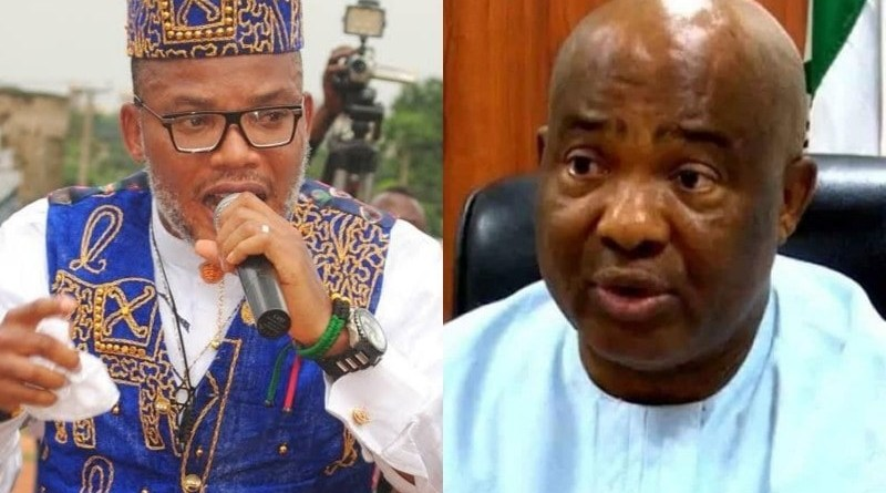 Nnamdi Kanu sends message to Uzodinma after attack, says this is the beginning