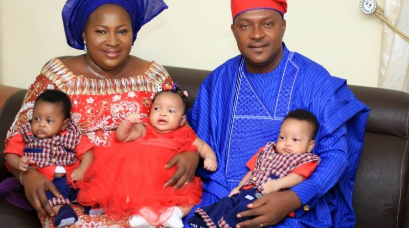 Nigerian Pastor, wife give birth to triplets, after 18 years
