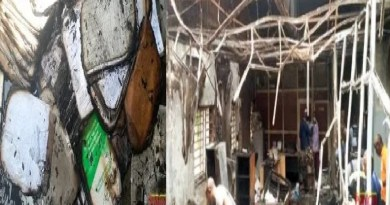 PHOTO: Vital documents, others destroyed as fire razes INEC's office in Abuja