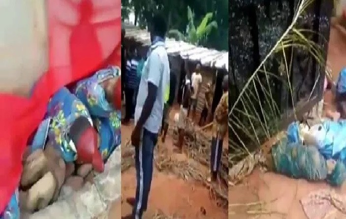 Youths destroy Church in Anambra, after pastor caught with charms (Video)