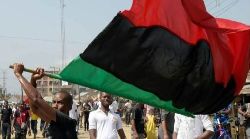 Breaking: Youths in border town to Cameroon raised Biafra flags