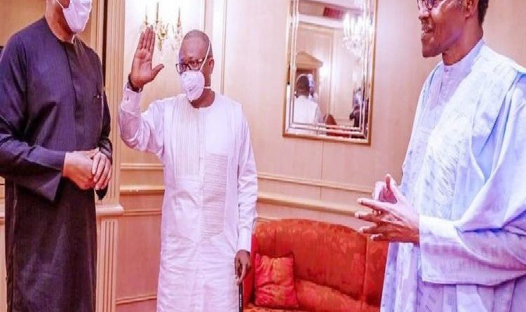 Presidency explains why Buhari doesn't wear face mask