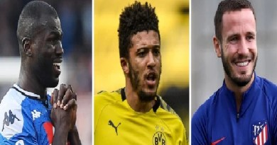 Man Utd to splash out £250m on Jadon Sancho, Kalidou Koulibaly and Saul Niguez this summer