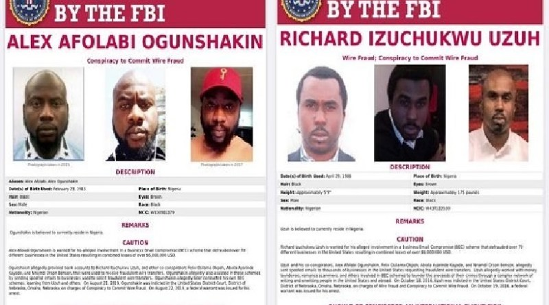 FBI declares six Nigerians wanted over $6m fraud