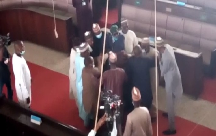 VIDEO: Nigerian lawmakers exchange blows during plenary