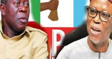 """""""Oshiomhole will go down in history as the undertaker of APC"""" – Odigie-Oyegun"""