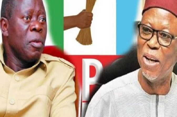"""Oshiomhole will go down in history as the undertaker of APC"" – Odigie-Oyegun"