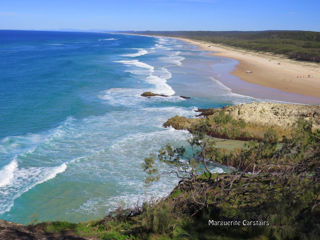 Gorge Lookout and whales in July Stradbroke Island