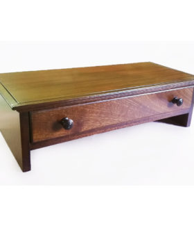 Hardwood Computer Monitor stand in Mahogany