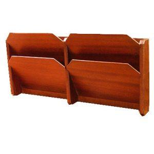Handmade file rack in mahogany with 4 Bays