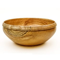 hand turned wooden bowl in elm