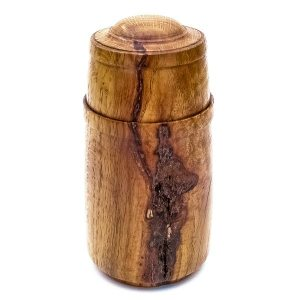 Turned box in Red Oak