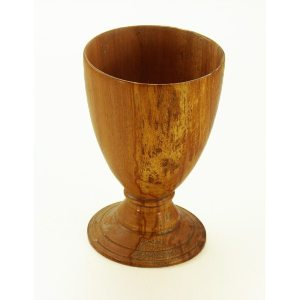 Hand turned goblet in cherry