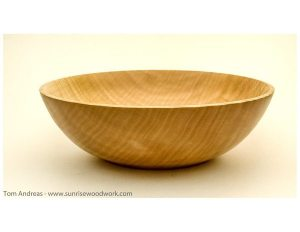hand turned Maple Bowl