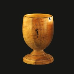 hand turned goblet in maple