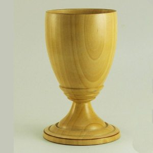Hand turned goblet in Pear Wood