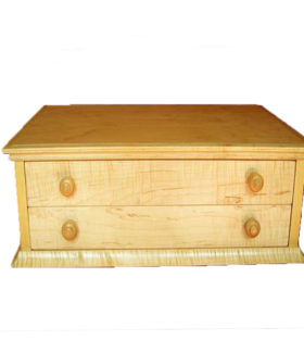 Small paper or Jewelry Cabinet in Natural Maple