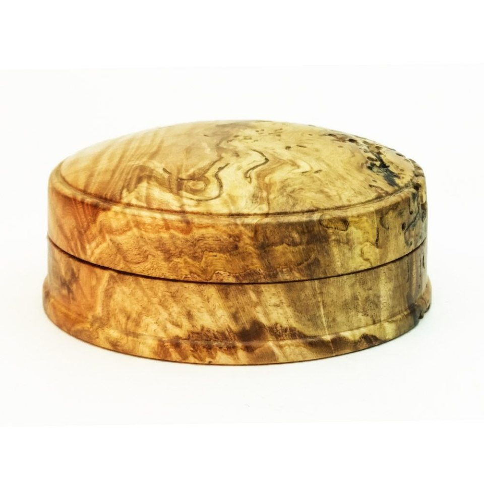 Hand Turned lidded box in Spalted Maple