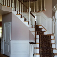 Raised Panel Wainscot on staircase