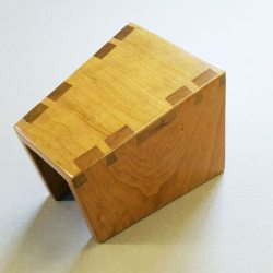 Dovetailed Footstool in Natural Cherry