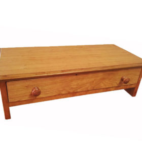 Large Monitor Stand with hand Turned Knobs in Natural Cherry