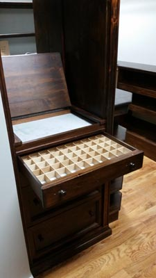 Jewelry Cabinet with Tray and Divided Drawers