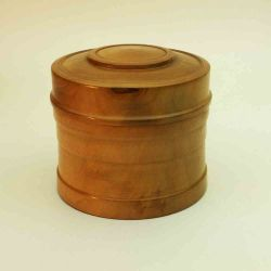 Turned box in Pear Wood
