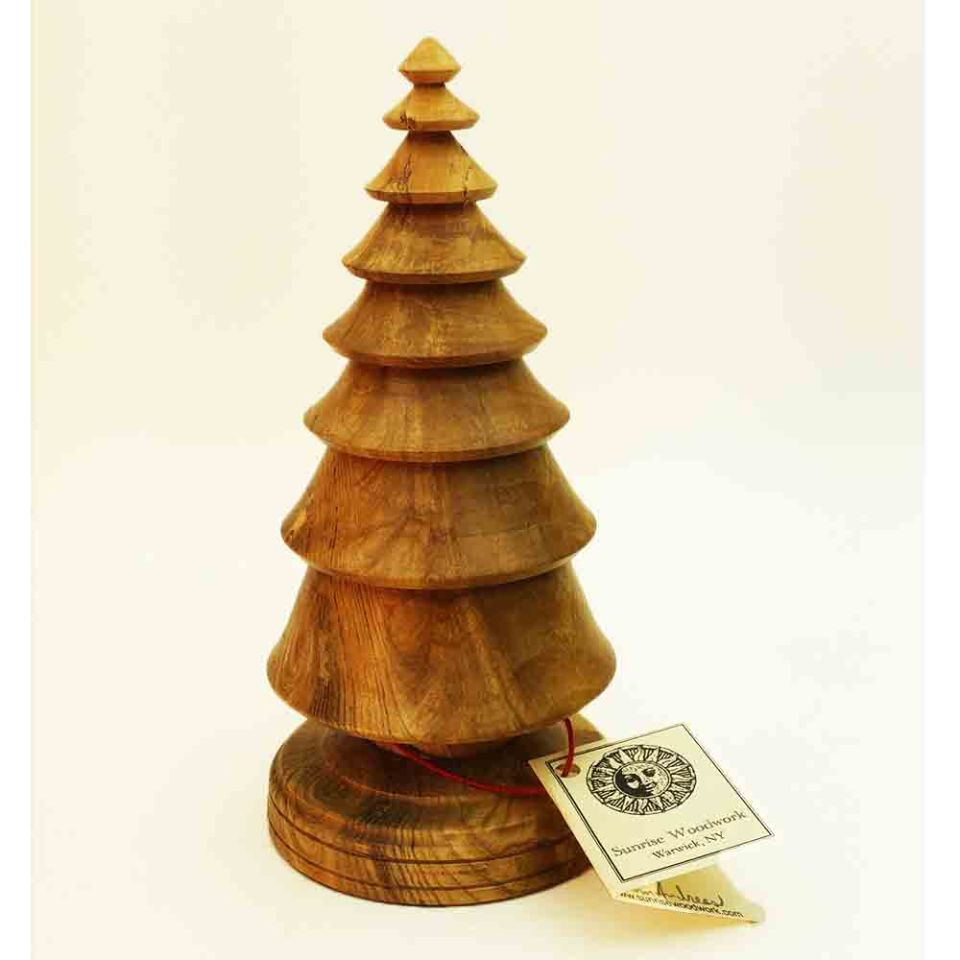 Hand Turned Wooden Christmas tree in Ash wood