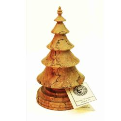 Hand Turned Wooden Christmas tree in Spalted maple