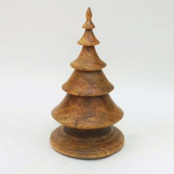 Hand turned wooden Christmas tree in sugar maple