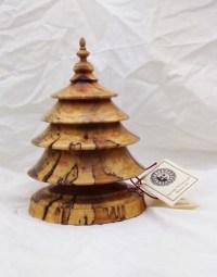 Turned Wood Christmas Tree