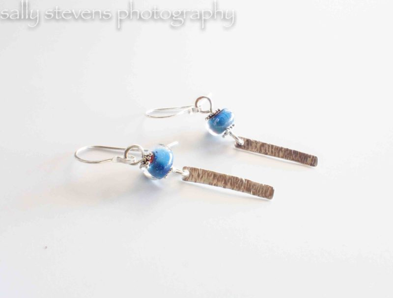 Class - Glass Bead Earrings from Sheet Metal and Wire