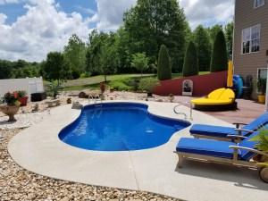 Fiberglass pool and Cool Deck