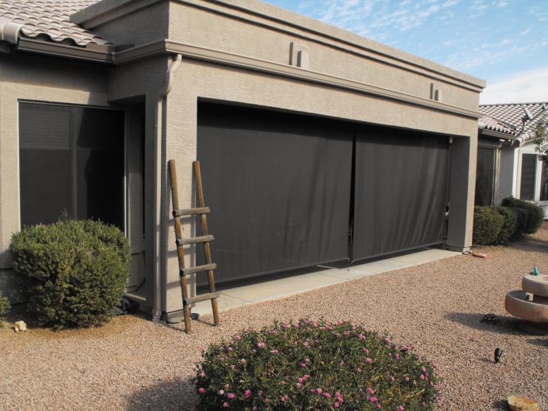 Exterior shades. save on solar shades blinds motorized patio ...