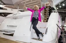 Joanna Lumley launching the Manhattan 66