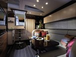 The interior of the Portofino 40 is warm and inviting, perfect for relaxing after a day at sea