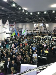 Crowds drew from around the London Boat Show to watch the performance