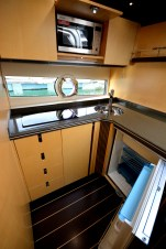 This Galley is the perfect place to prepare lunch while moored out at sea