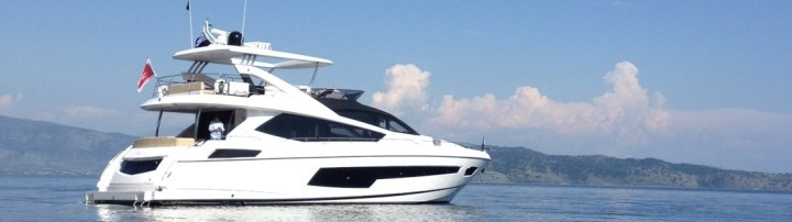 A warm welcome to Corfu: new Sunseeker 75 Yacht delivered by Sunseeker Hellas