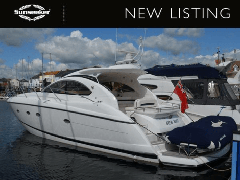 """The Sunseeker Portofino 47 """"GREAT WHITE"""" has been listed by Sunseeker Poole"""