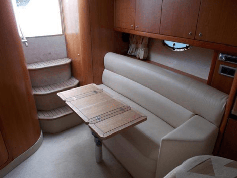 A luxurious interior compliments her beautifully equipped exterior, offering overnight accommodation in a well appointed forward cabin