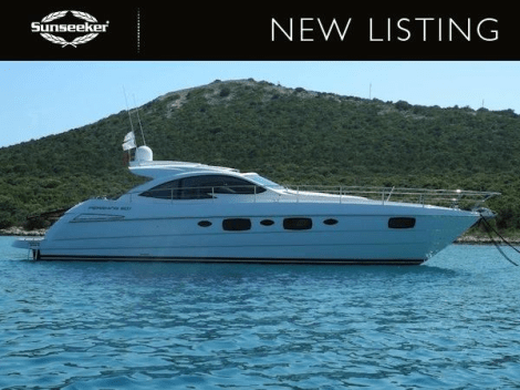 "Sunseeker France have listed the Pershing 50.1 ""SEA BISCUIT IV"" for sale"