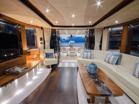 Luxury accommodation is offered for 8 guests in 4 cabins
