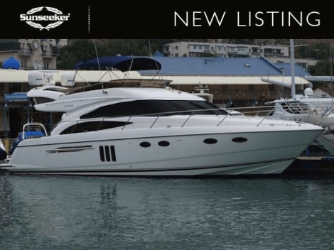 """Sunseeker France have announced their new Central Listing, the Princess 58 Flybridge """"ECLIPSE"""" asking $880,000 and lying in Montenegro"""