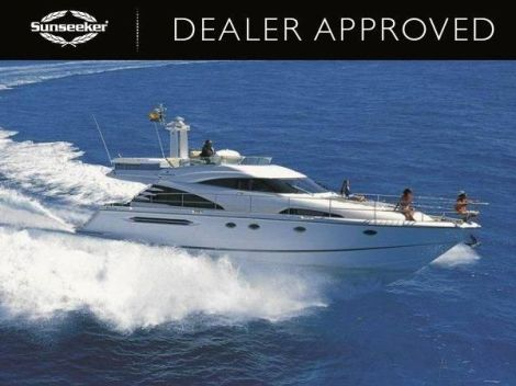 "Sold with a 3-month labour only warranty, the Dealer Approved Fairline Squadron 58 ""BUOY OH BUOY"" is for sale with Sunseeker France"