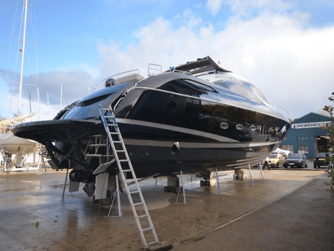 Recently finished with a £100,000 customised black and silver respray, this Sunseeker Predator 82 is in stunning condition