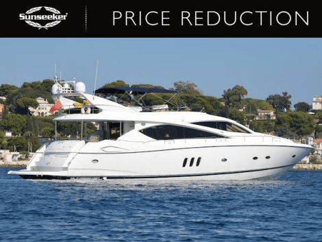 """Sunseeker 75 Yacht """"SOMETHING DIFFERENT"""" has been reduced to €899,000 Tax Paid"""